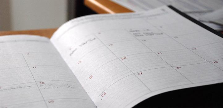 Kalender - Foto: Eric Rothemel, unsplash.com