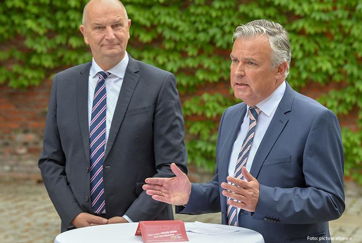 Ministerpräsident Woidke, Lausitzbeauftragter Dr. Klaus Freytag / Foto: (c) dpa